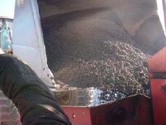 Aspecto de la mezcla bituminosa en frío poroelástica fabricada